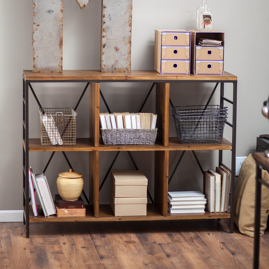Image of: Industrial Bookcase Style
