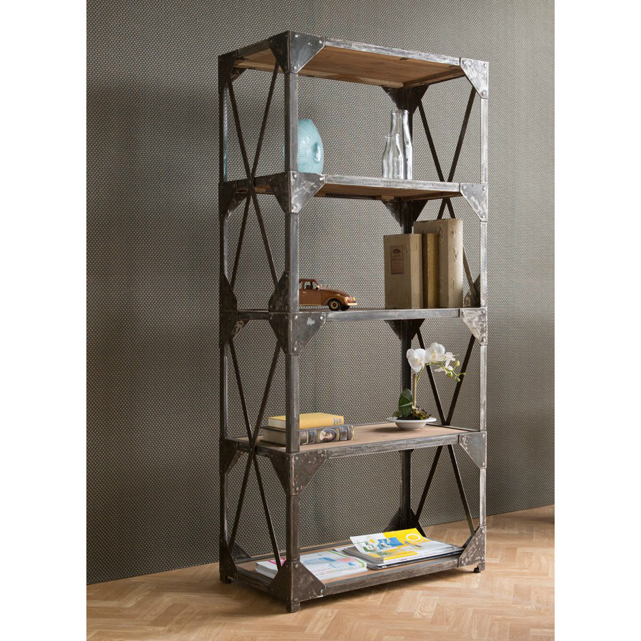Image of: Industrial Bookcase and Shelves