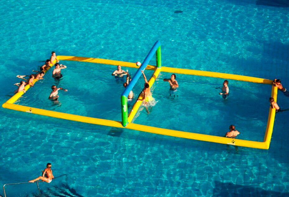 Image of: Inflatable Pool Volleyball Net