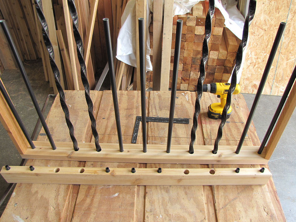 Image of: Install Metal Balusters For Deck