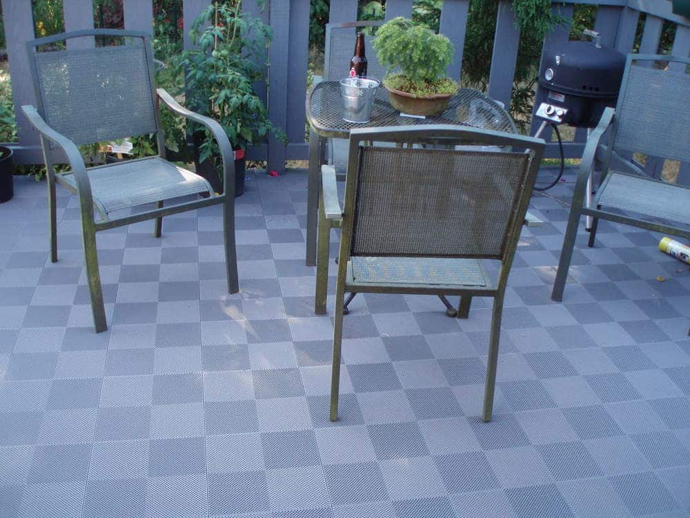 Image of: Interlocking Deck Tiles Stone