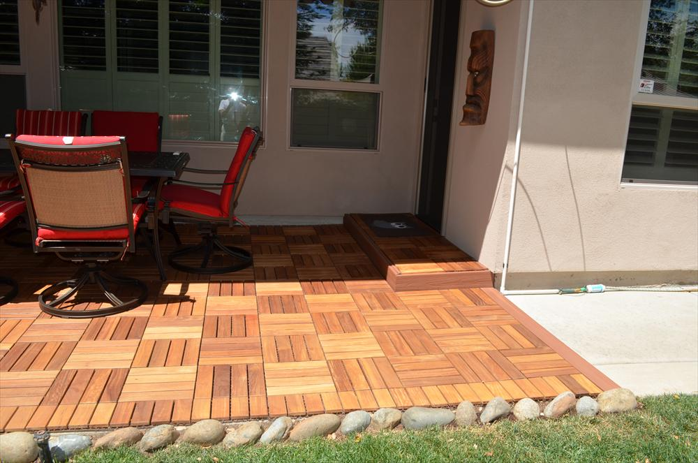 Image of: Interlocking Deck Tiles Teak