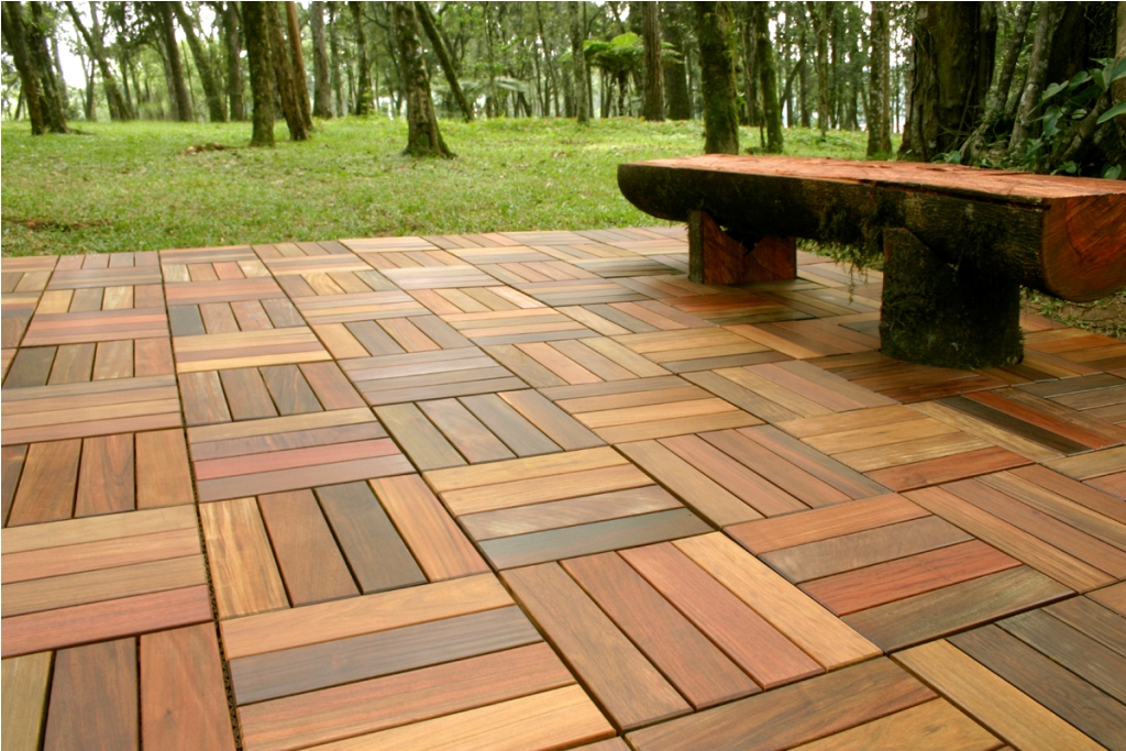 Image of: Interlocking Deck Tiles on Dirt