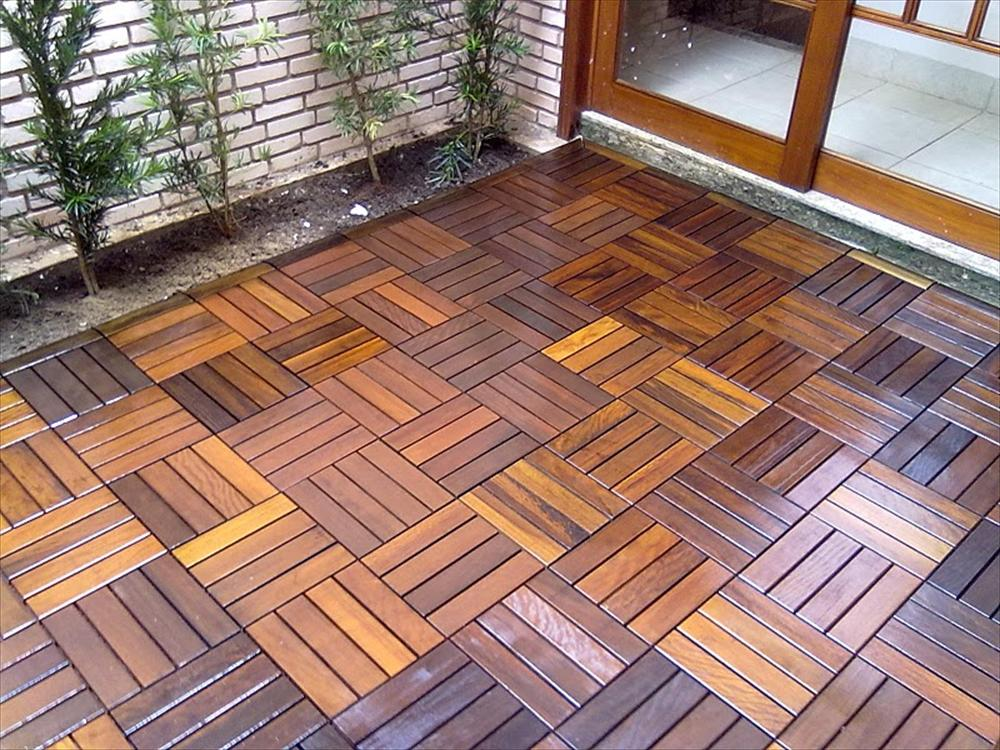 Image of: Interlocking Deck Tiles over Concrete