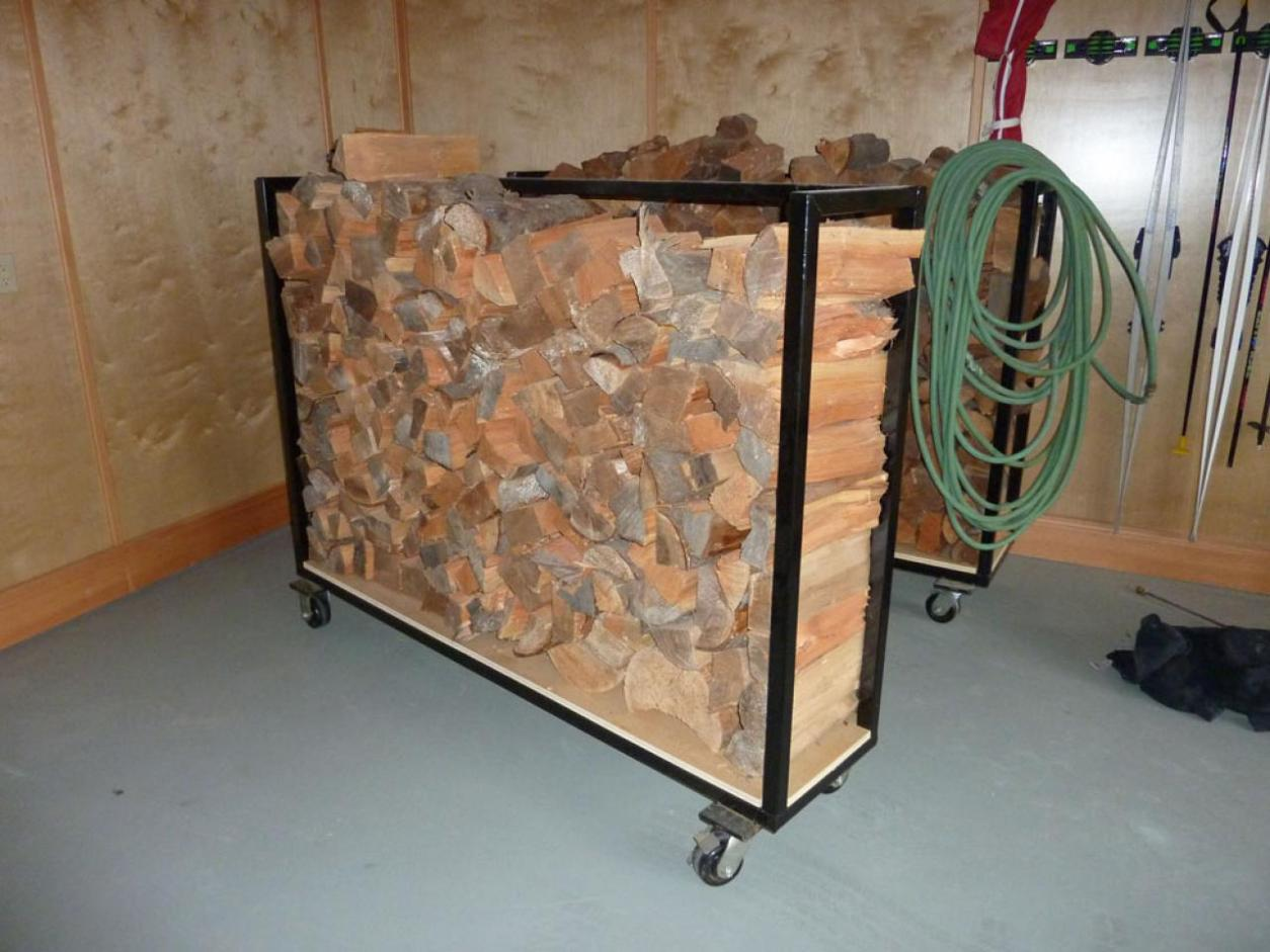 Image of: Iron Firewood Holder