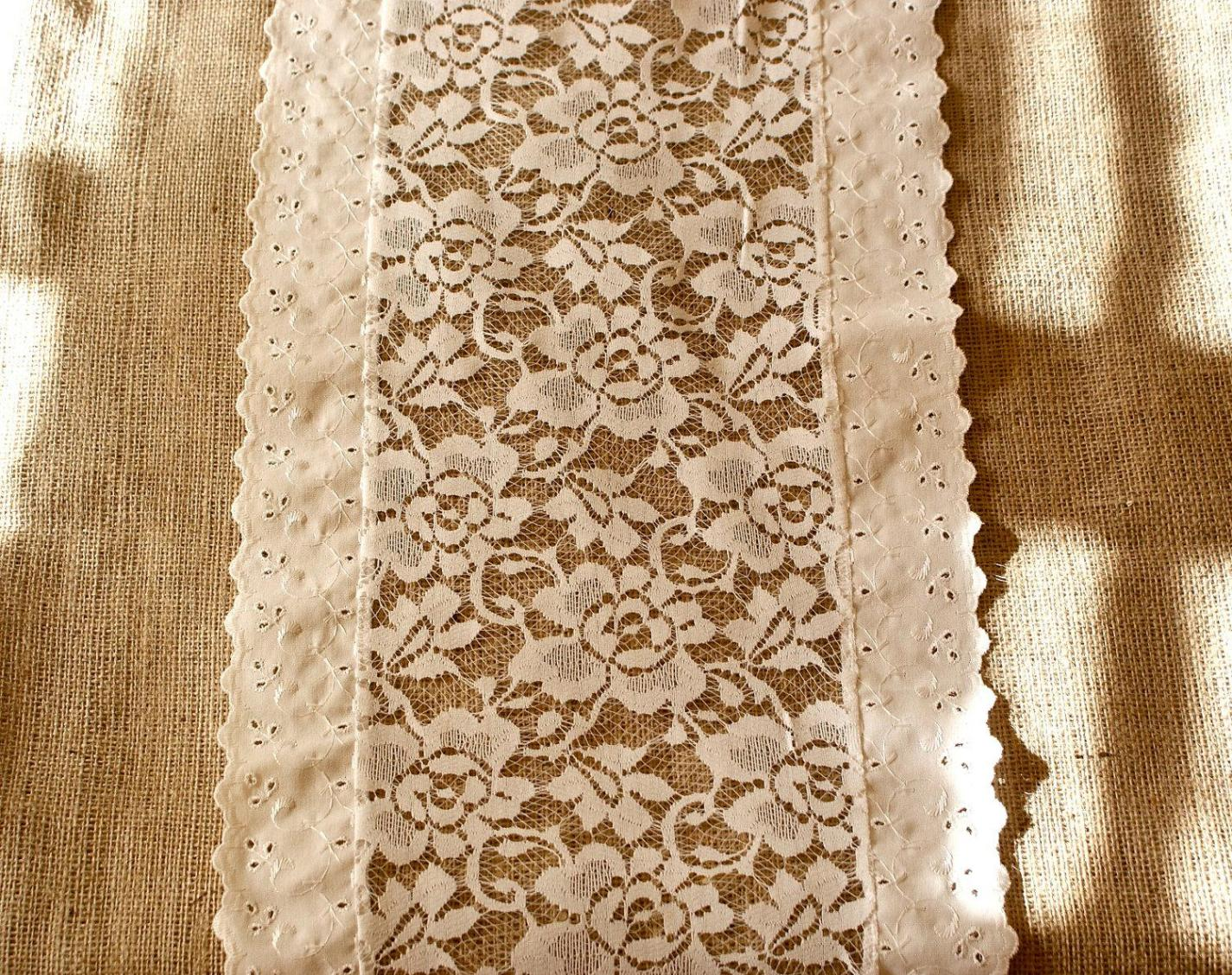 Image of: Ivory Lace Table Runner