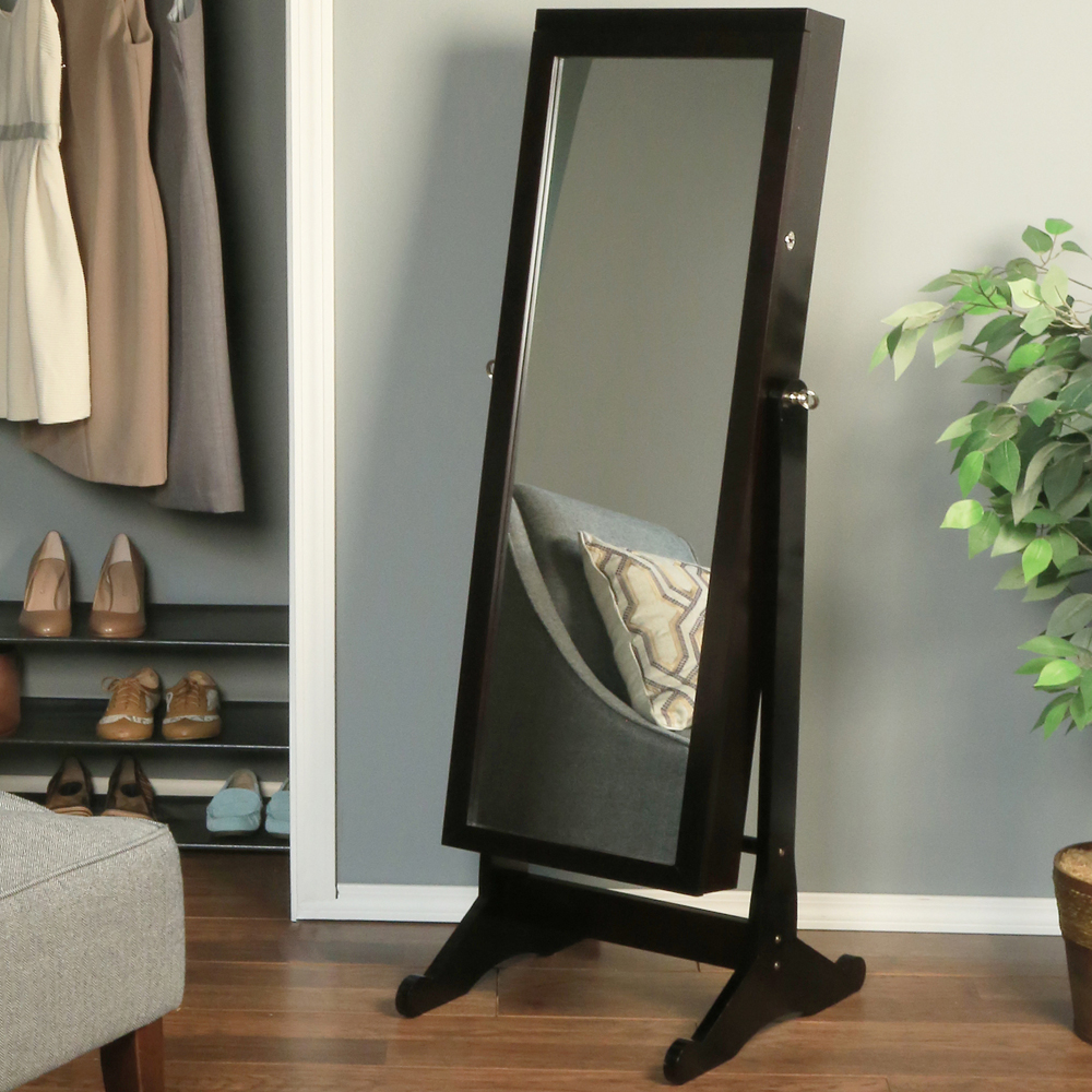 Image of: Jewelry Armoire Standing Mirror