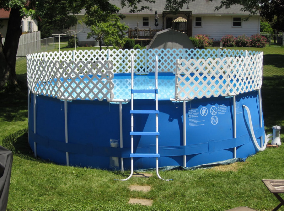Image of: Kids Above Ground Pool Fence