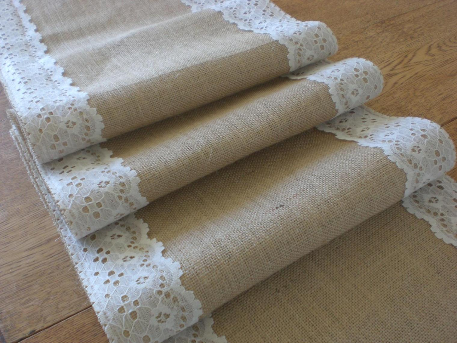 Image of: Lace Table Runner Bulk