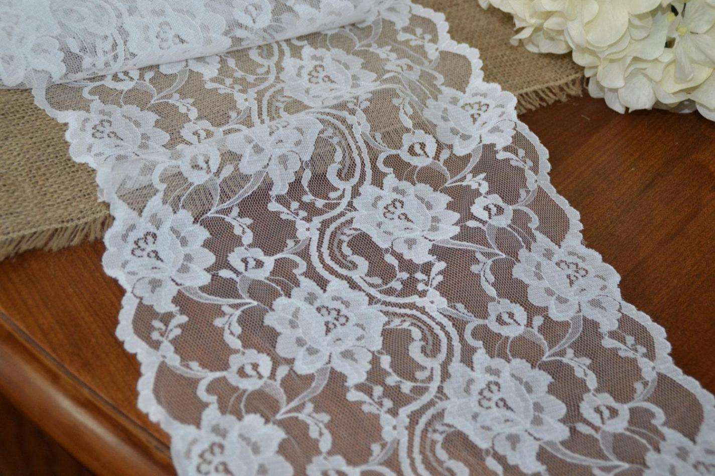 Image of: Lace Table Runner Fabric