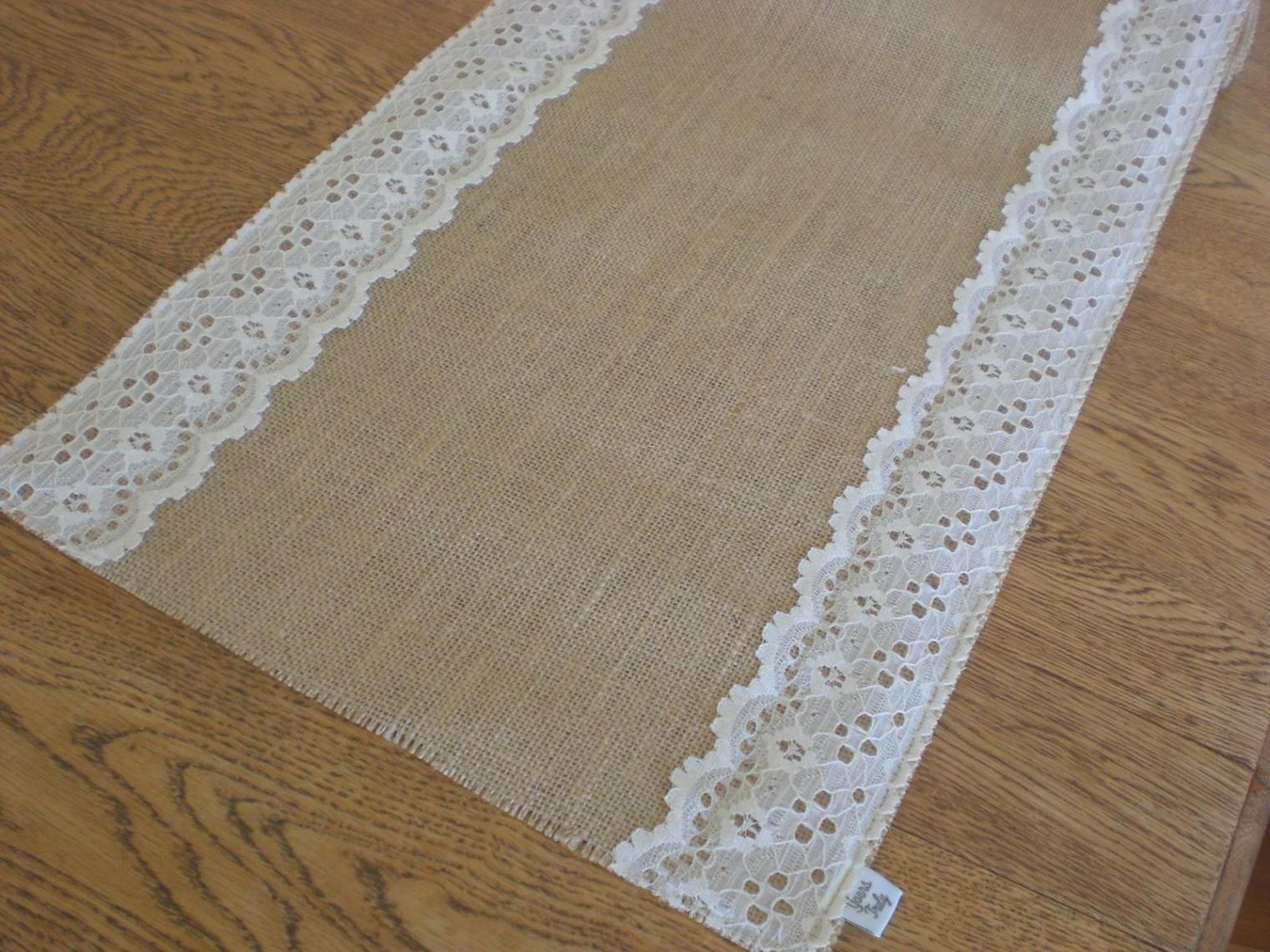 Image of: Lace Table Runner Wedding