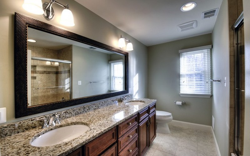 Image of: Large Bathroom Mirror with Frame