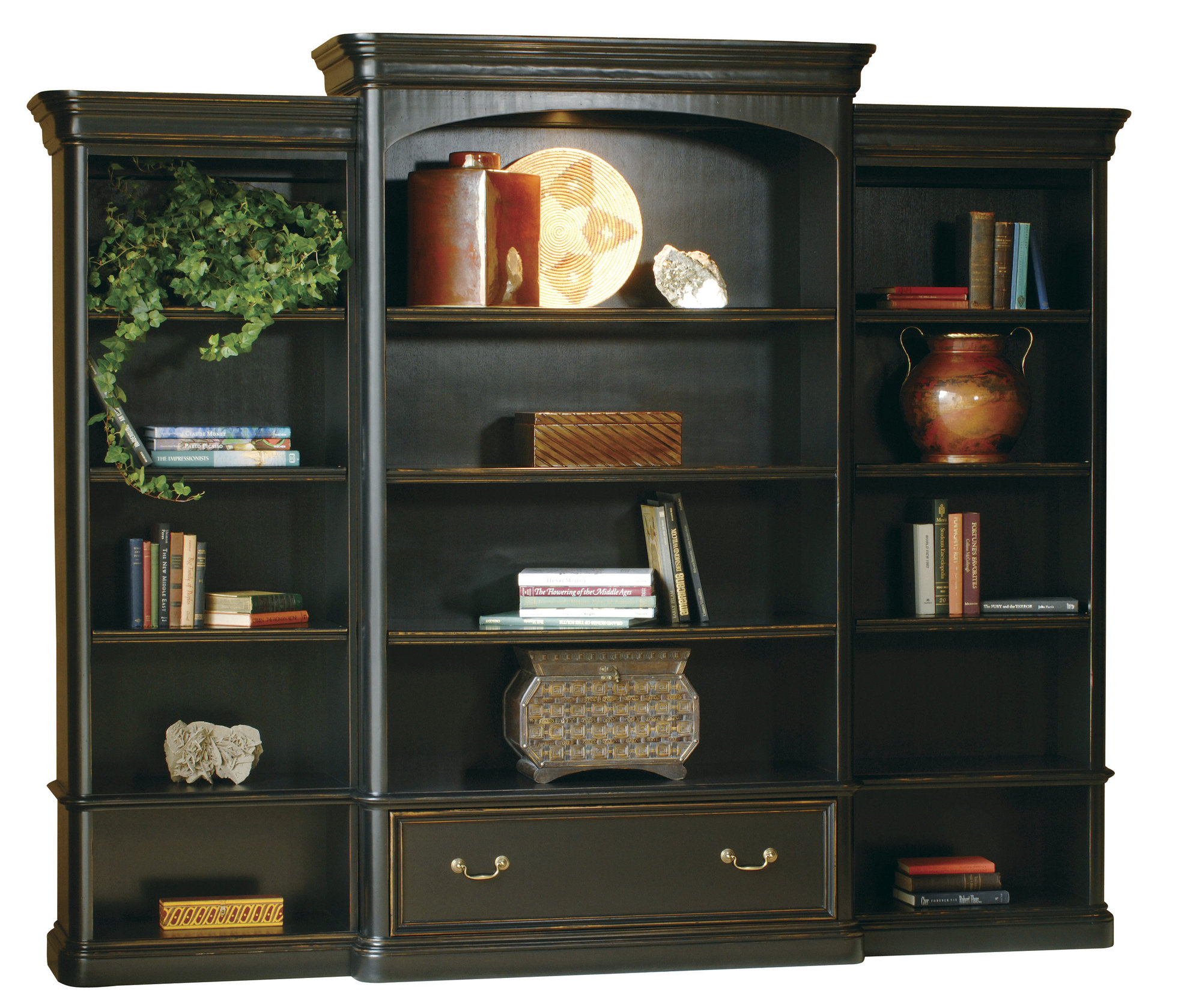 Image of: Large Distressed Bookcase