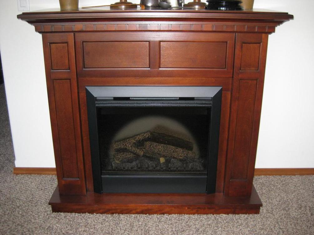 Image of: Large Electric Fireplace With Mantel
