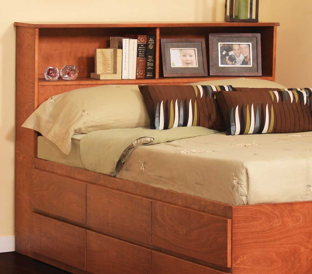 Image of: Large King Size Bookcase Headboard