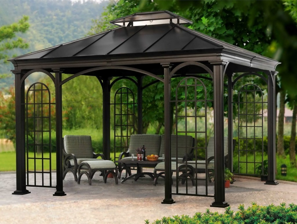 Image of: Large Portable Gazebo for Deck