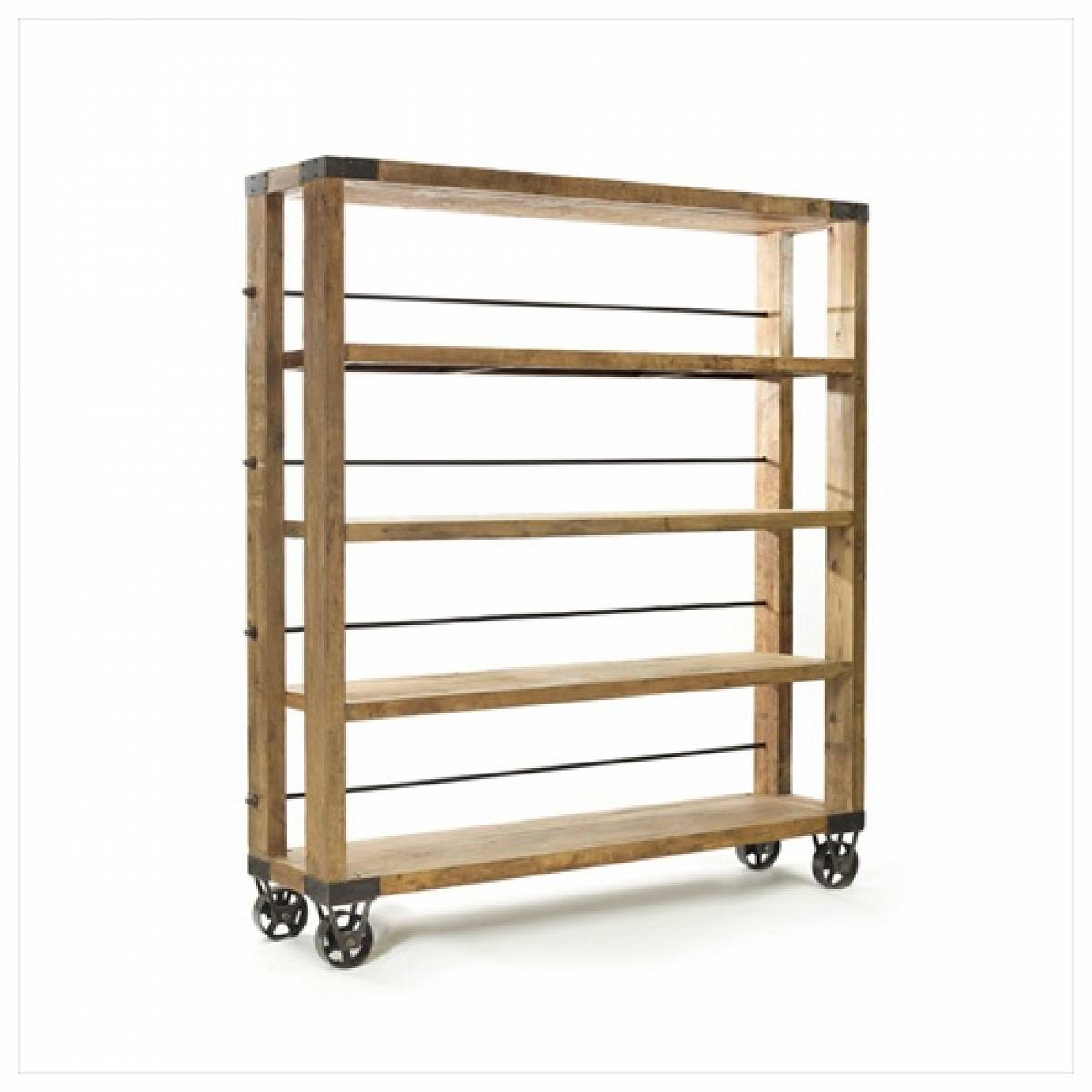 Image of: Large Rolling Bookcase