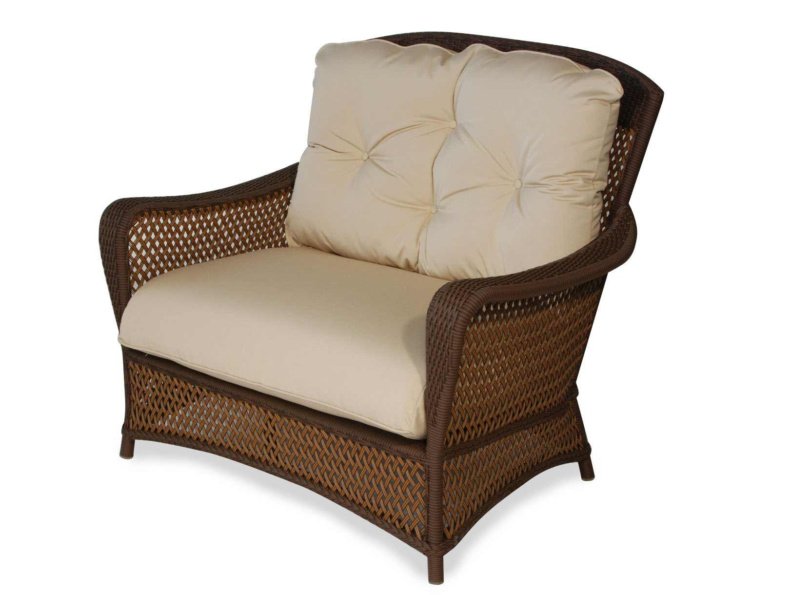 Image of: Large Wicker Patio Chair