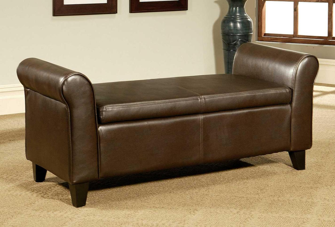Image of: Leather Cocktail Ottoman