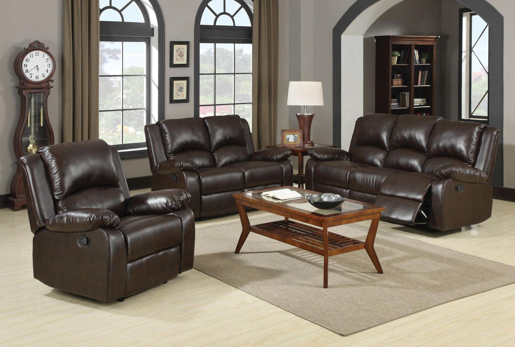 Image of: Leather Reclining Sectional Sofa