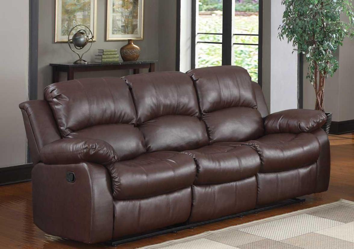 Image of: Leather Sectional Sofa With Recliner
