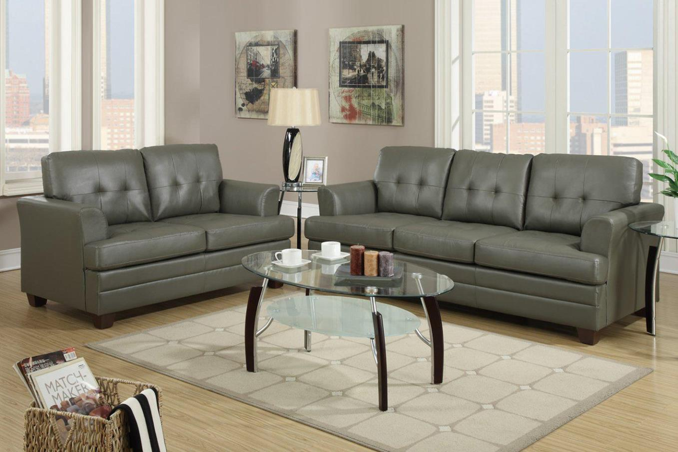 Image of: Leather Sofa And Loveseat Sets