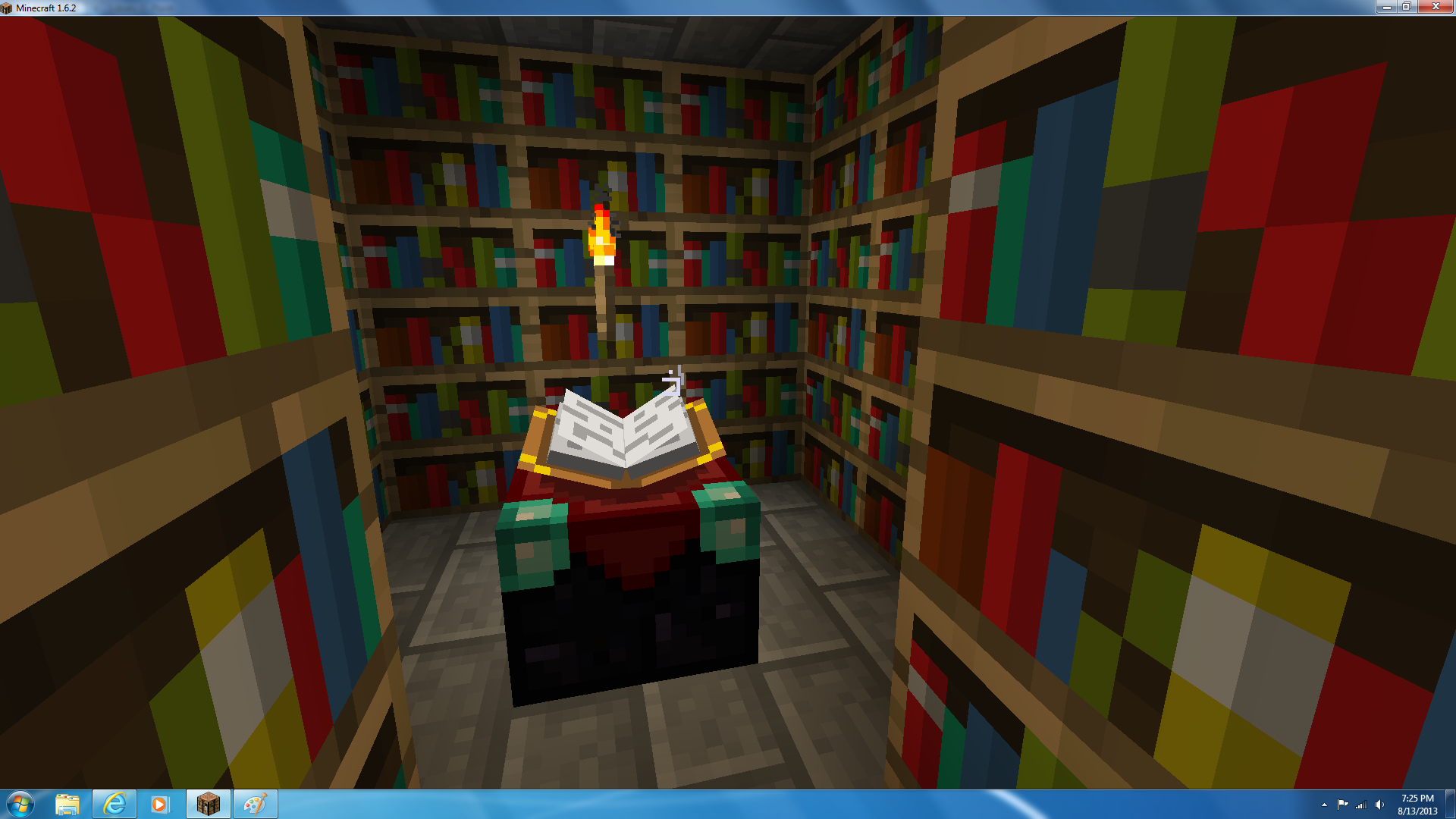 Image of: Library Bookcase Minecraft