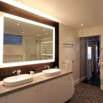 Lighted Bathroom Mirror and Light