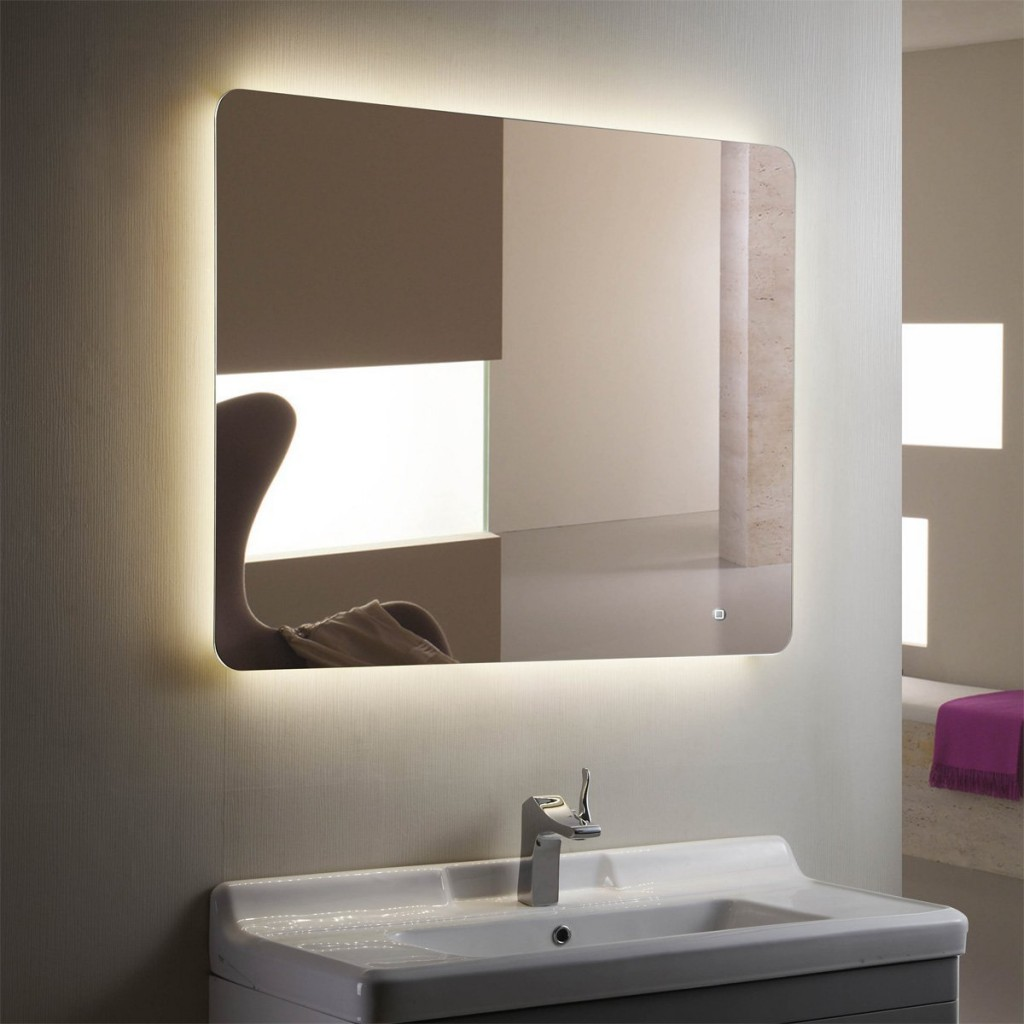 Image of: Lighted Vanity Mirror Led Wall