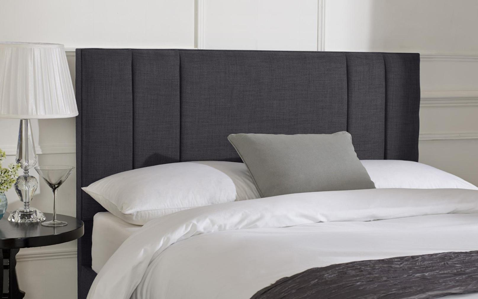 Image of: Linen Headboard King