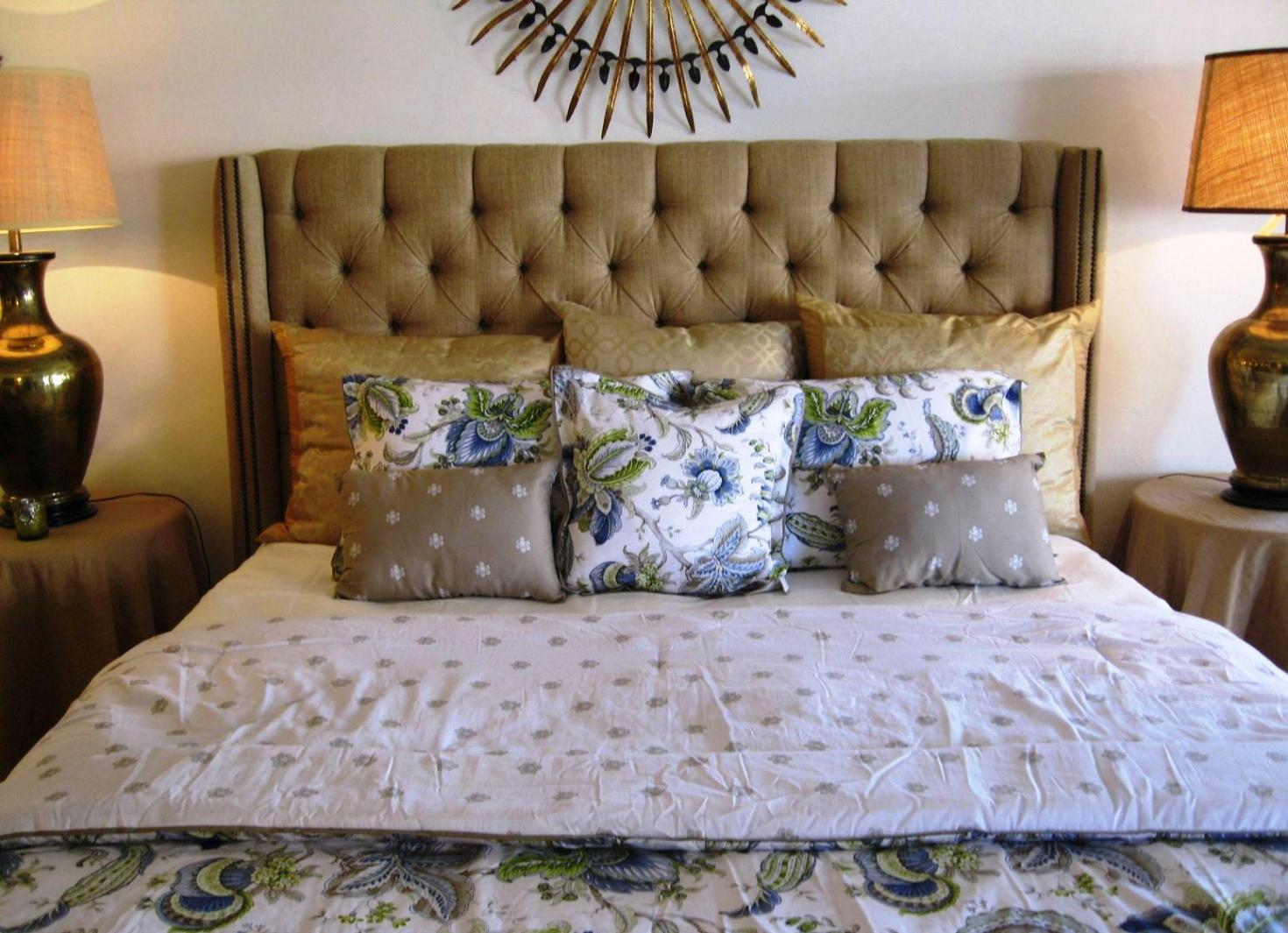 Image of: Linen Tufted Headboard