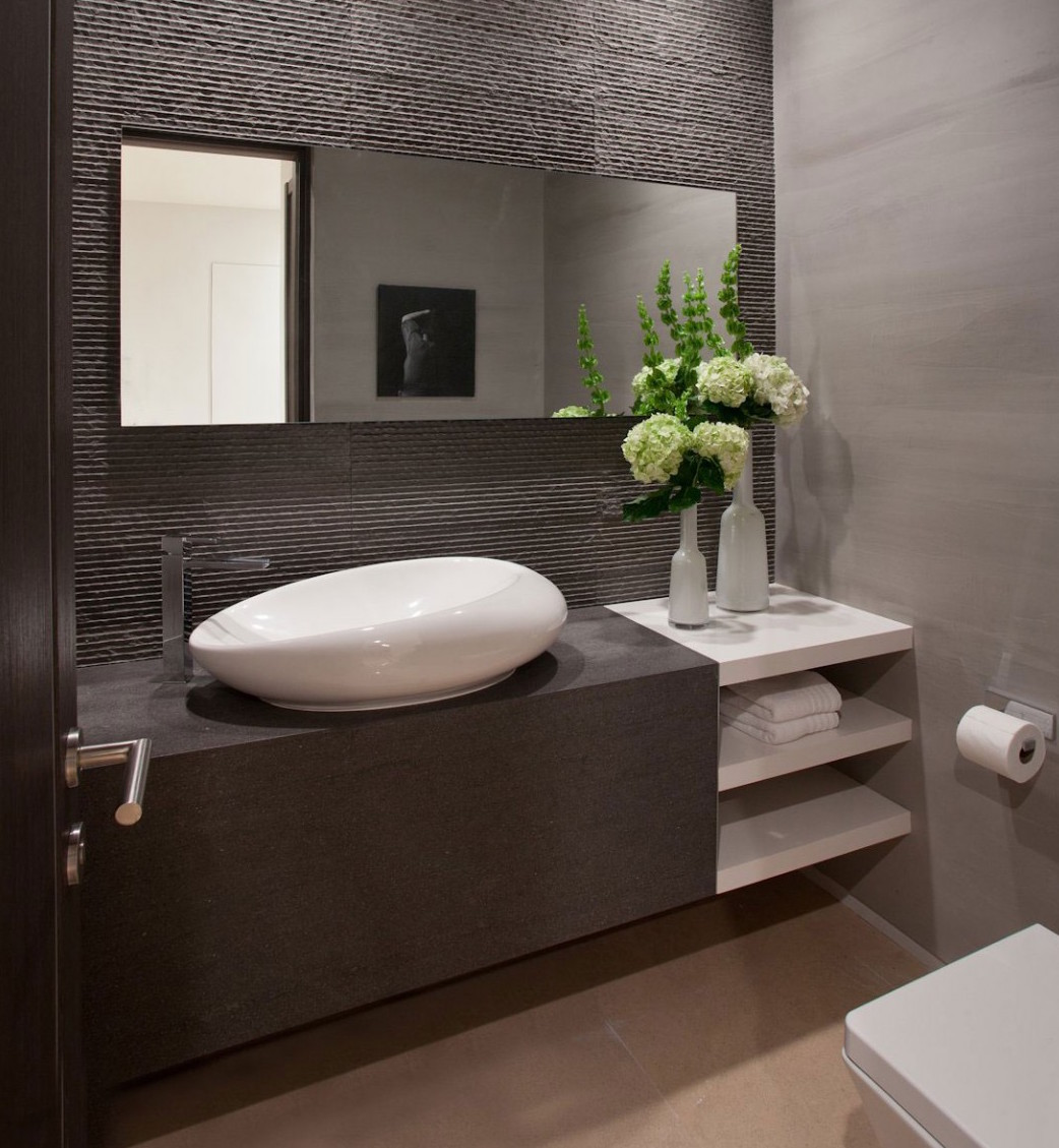 Image of: Long Wall Mirrors Bath