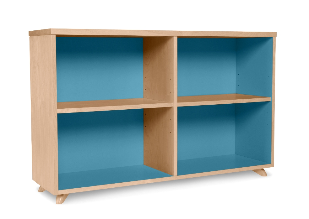 Image of: Low bookcase white