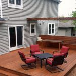 Mahogany Decking Backyard