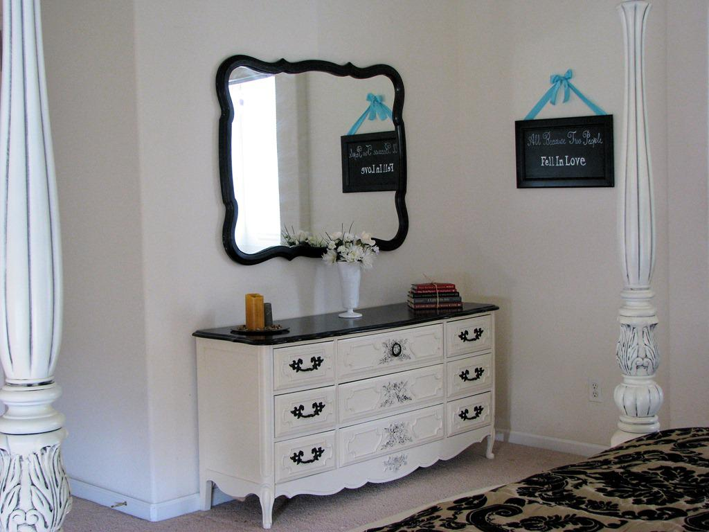 Image of: Makeover White Dresser With Mirror