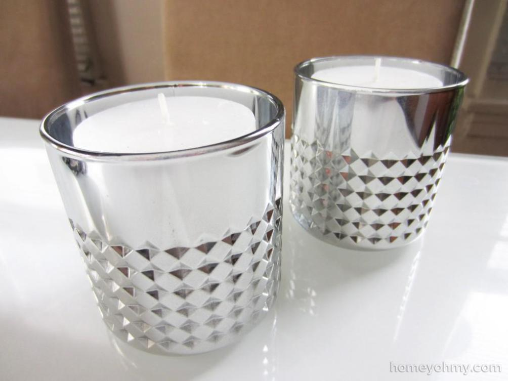 Image of: Mercury Glass Candle Holders