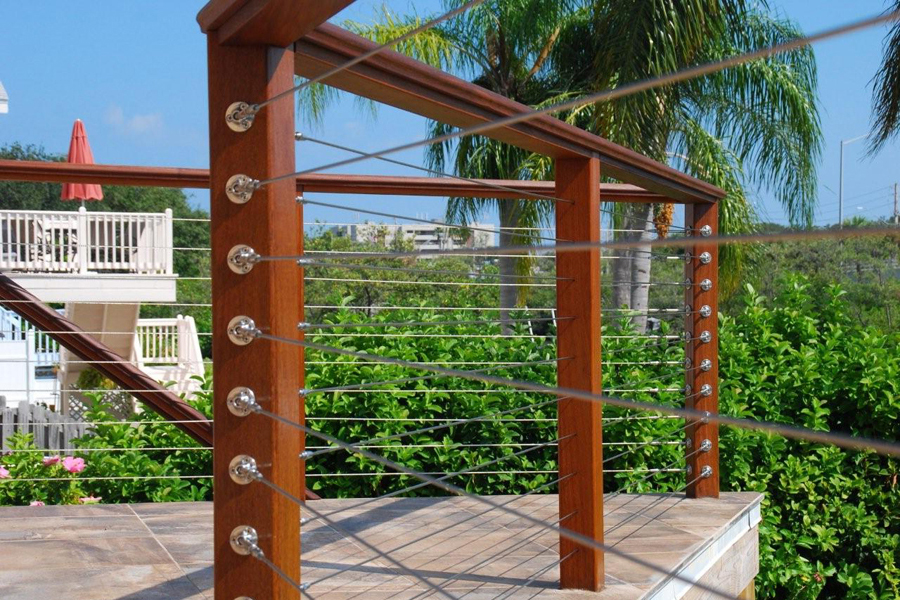 Image of: Metal Cable Deck Railing