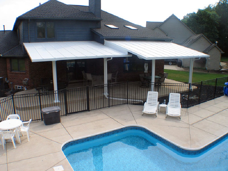 Image of: Metal Patio Awning Color