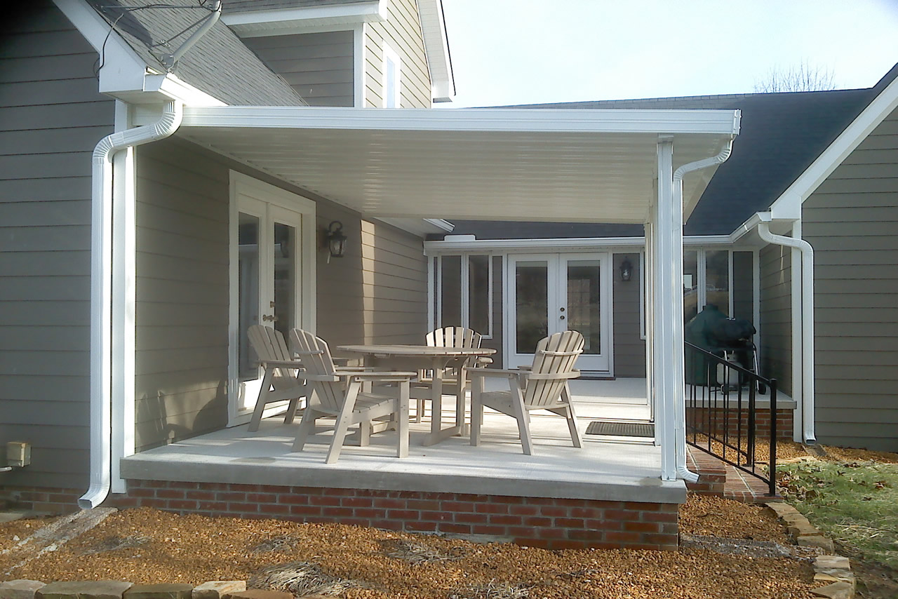 Image of: Metal Patio Awning Home