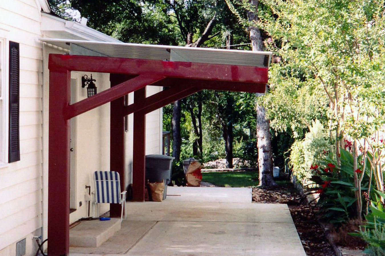 Image of: Metal Patio Awning Small