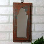 Metal and Reclaimed Wood Wall Mirror