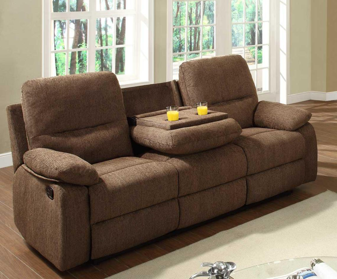 Image of: Microfiber Reclining Couch