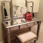 Mirrored Makeup Vanity and Stool