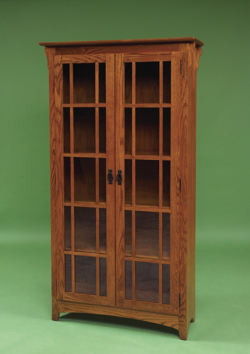 Image of: Mission Bookcase Door