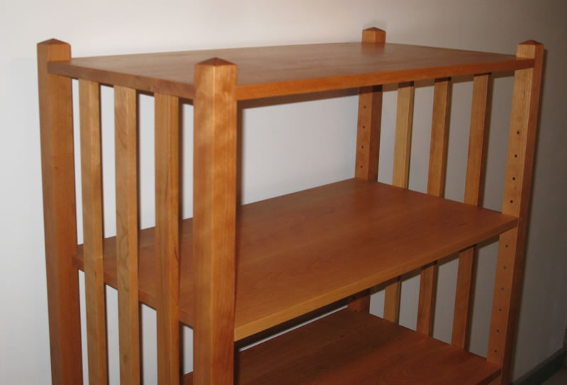 Image of: Mission Bookcase Wood