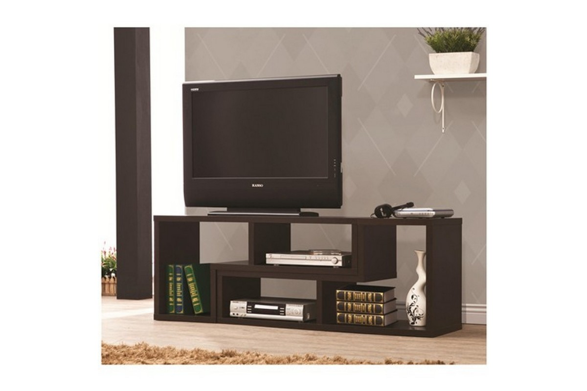 Image of: Modern Bookcase Tv Stand Photo
