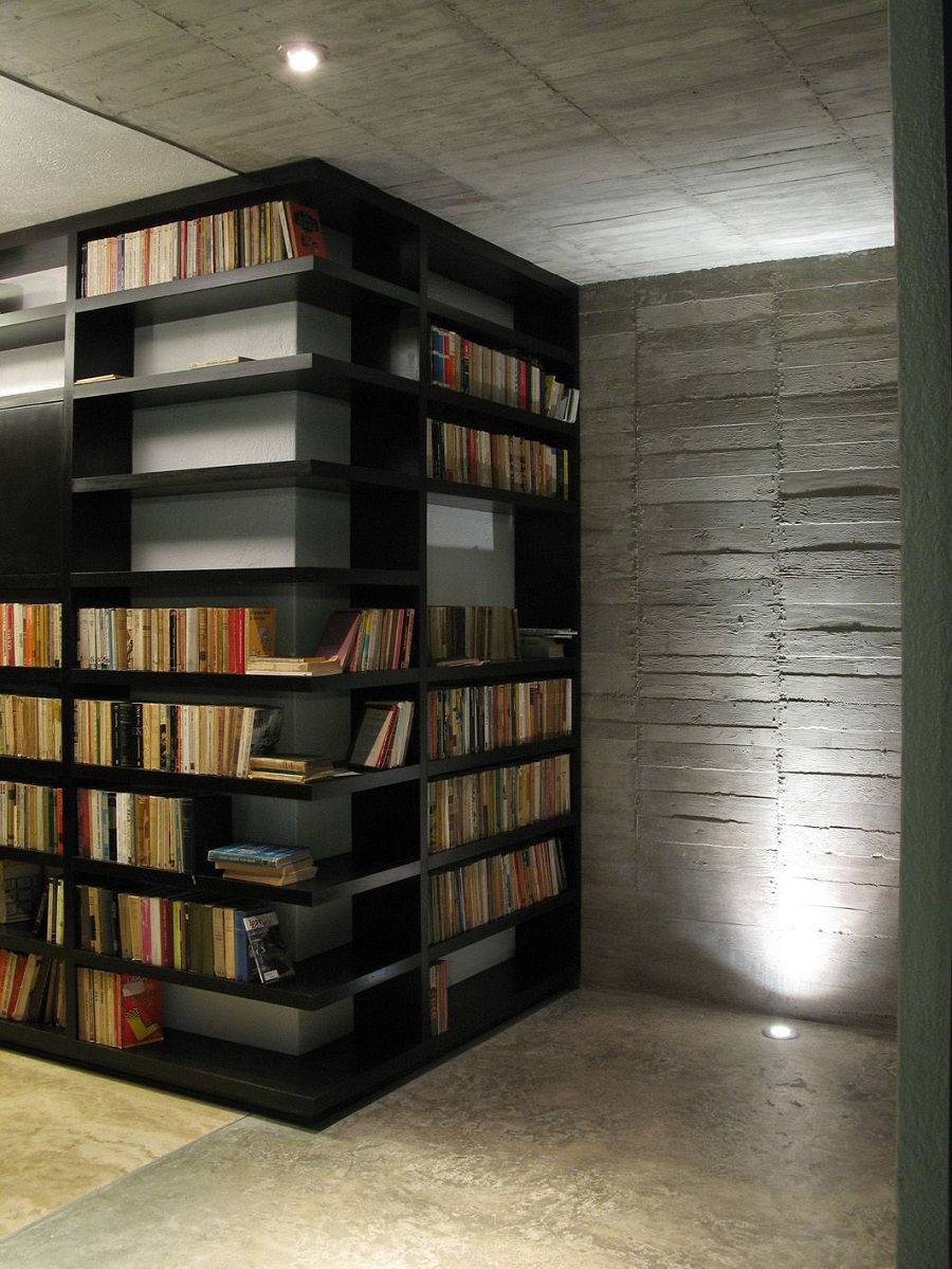 Image of: Modern Corner Bookcase Library