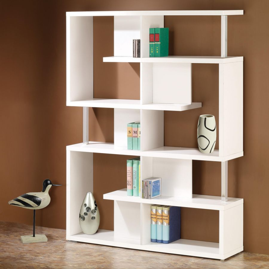 Image of: Modern Corner Bookcase Units