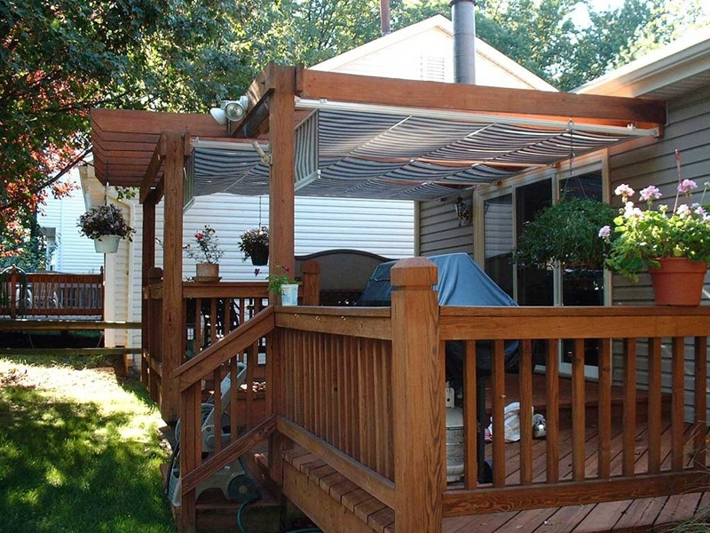 Image of: Modern Deck Awning