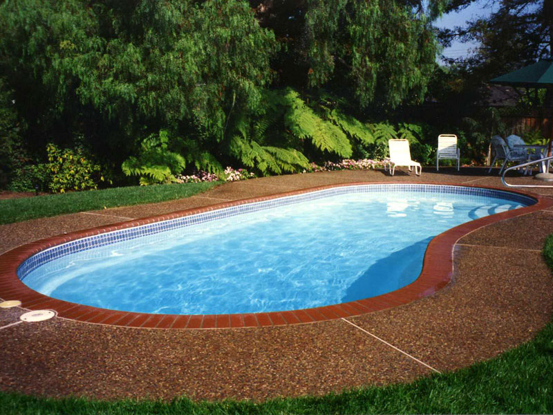 Image of: Modern Fiberglass Inground Pools